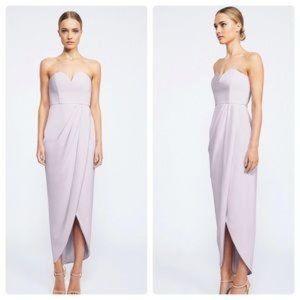 SHONA JOY U Wire Bustier Dress in lilac size 4
